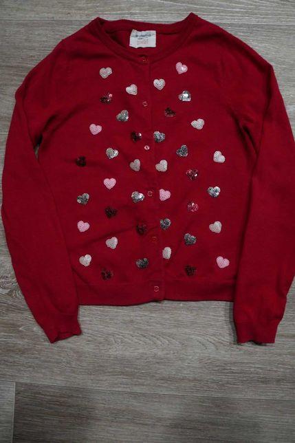 Красивая кофта с паетками H&M на девочку 6-8 лет, рост 122-128