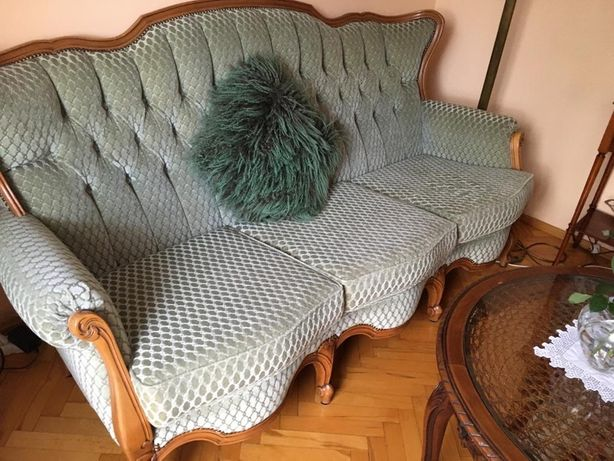 Komplet wypoczynkowy sofa + 2 fotele stan bdb