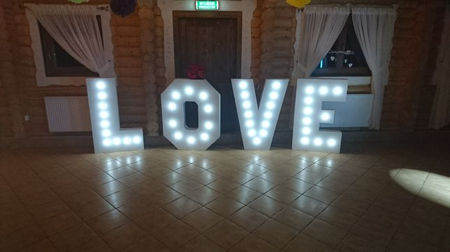 Litery LOVE, Napis LOVE, ledowe, weselne 3D