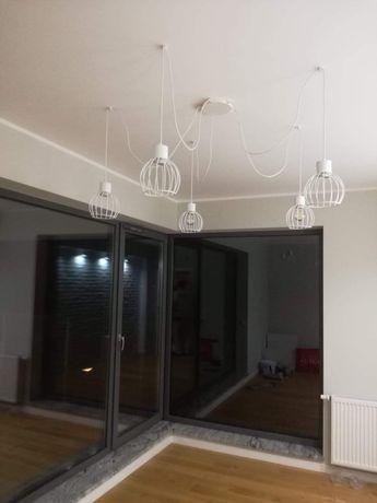 Nowy Żyrandol Lampa Pająk Biały