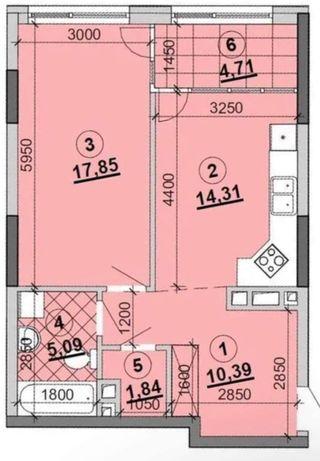 Квартира 53 кв.м в ЖК «Грейт»