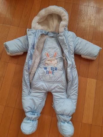 Комбинезон трансформер зимовий, від народження до 1 року