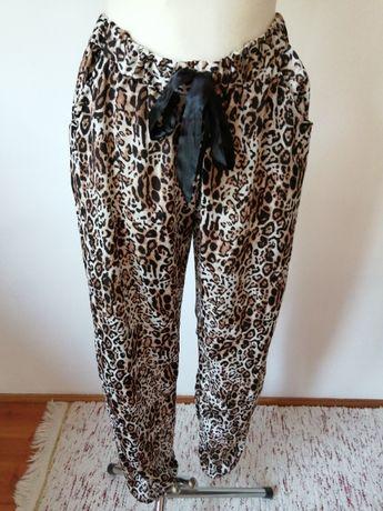 Spodnie damskie panterka rozmiar 38 vintage boho tanio okazja