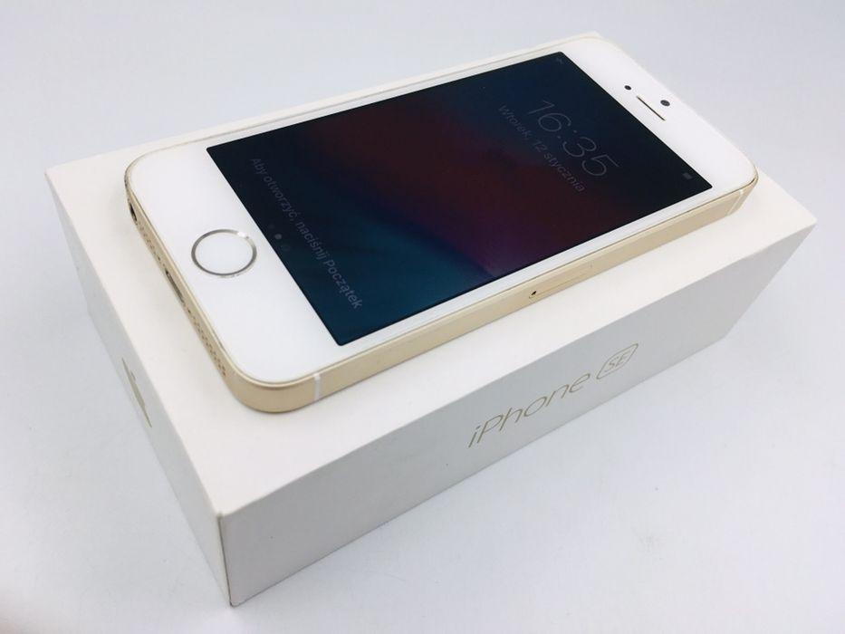 iPhone SE 16GB GOLD • NOWA bateria • GWARANCJA 1 MSC • AppleCentrum Wrocław - image 1