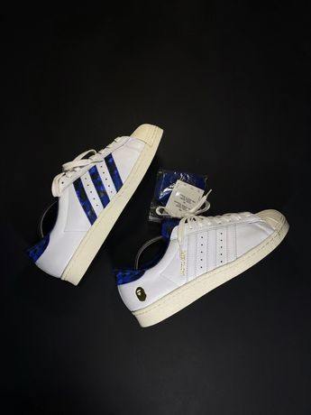 New Adids Superstar x Bape x Undefeated  43 1/3