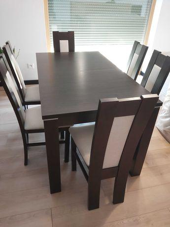 Stół 140x80 i krzesła (6 sztuk)