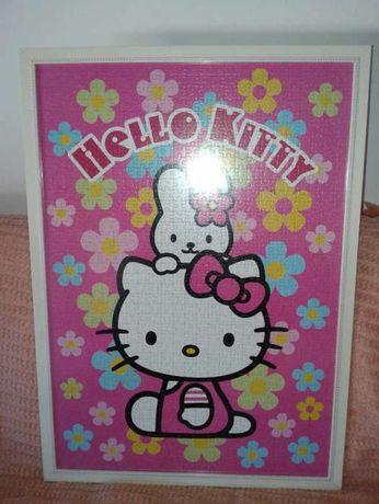 Quadro com puzzle da hello kitty