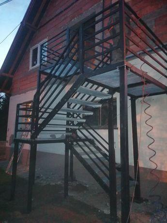 Schody stalowe techniczne tarasowe warsztatowe metalowe ppoż