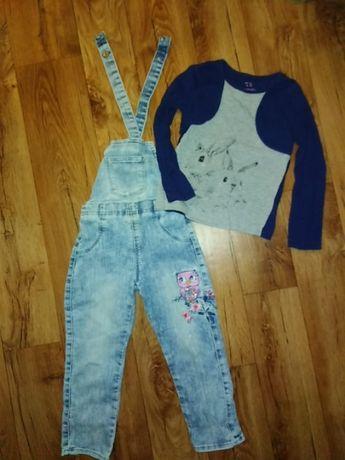 Продам джинсовый комбенизон с регланом на девочку