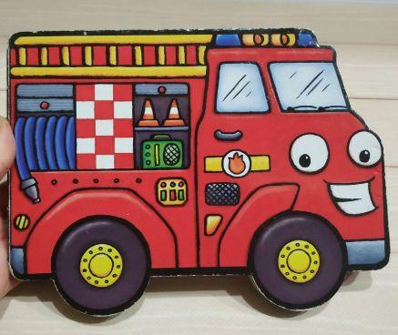 начинающим учить книга английский fire engine картон пожарная машина