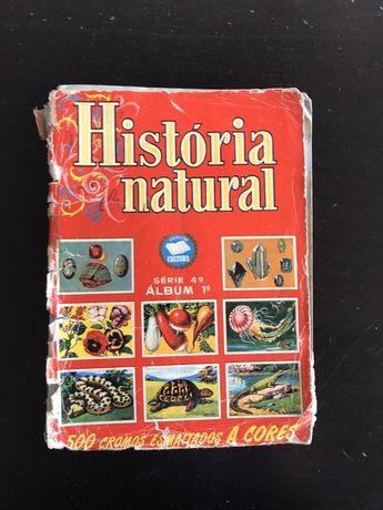 Caderneta Incompleta Cromos História Natural - série 4 - 1° album