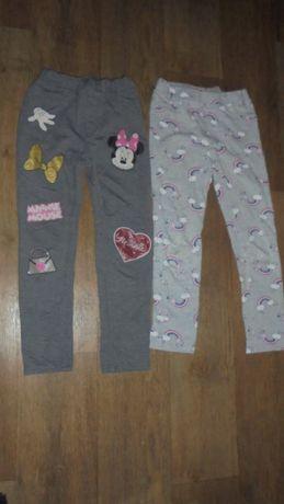 Штаны брюки трехнитки яркие хлопковые H&M радуга Minnie Mouse джинсы
