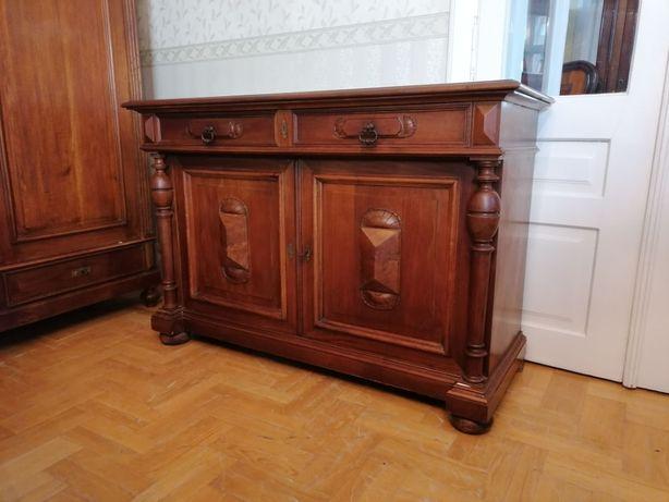stara XIX wieczna orzechowa komoda eklektyczna