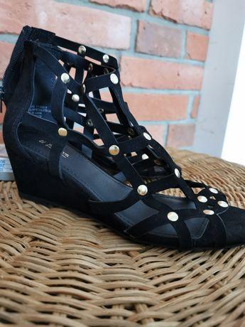 Sandały 36 nowe Papaya czarne ćwieki
