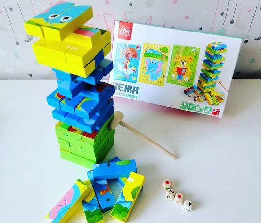 Дженга, Jenga, дерев'яна іграшка, деревянная игрушка, дерев'яні пазли