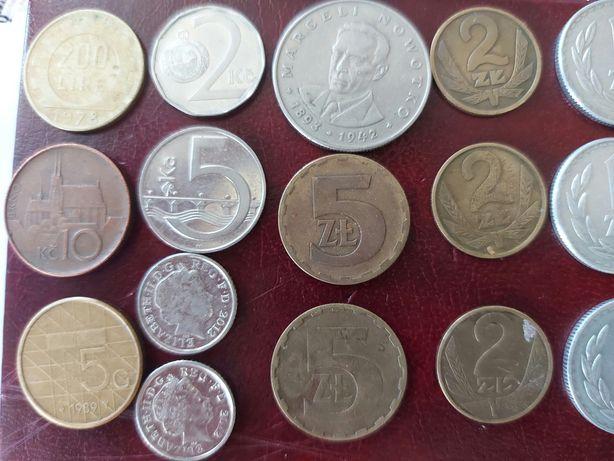 okazja monety PRL i 6 zagranicznych