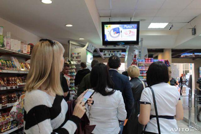 Размещение рекламы на видео-аудио-комплексах в супермаркетах г.Луганск