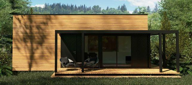 Domek całoroczny o konstrukcji szkieletowej drewnianej do 35 m2