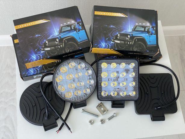 Светодиодные LED/ЛЕД фары/фонари МТЗ ЮМЗ Т150/40/25/16 свет дальний