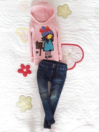 Речі на дівчинку 2-3р 92-98см/кофта/джинси/штани/реглан/комбінезон