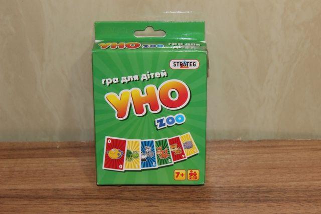 Детская карточная игра УНО zoo на укр. языке