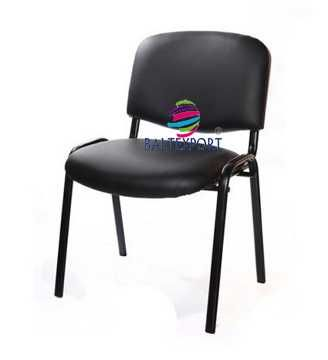 Cadeira Visitante Multiusos Fixa 4Pes Revestida Pele Sintetica /Tecido