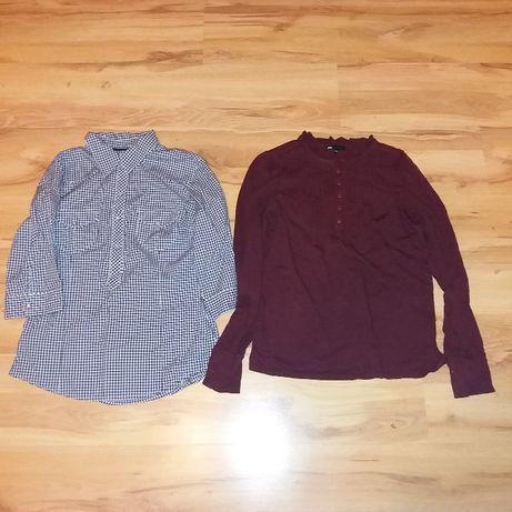 cena za zestaw bluzka h&m koszula krata 38 M stan bdb