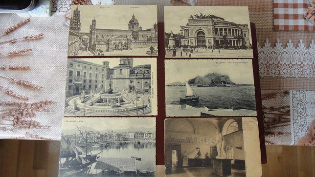Продам почтовые открытки Палермо Италия до 1917 года