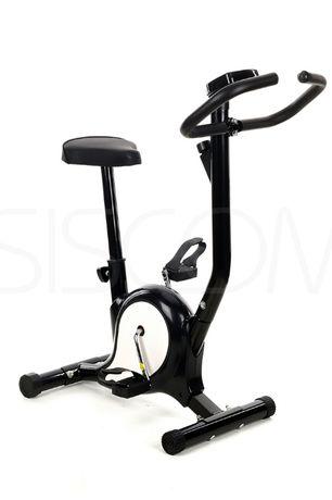 Rower rowerek do ćwiczeń treningowy czarno biały F01