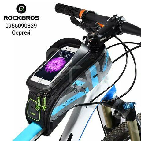 Велосумка RockBros на раму, вело сумка для телефона, чехол, велочехол