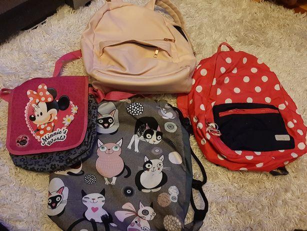 Plecaki dziewczęce, worek,torebka,róż Miki,okazja