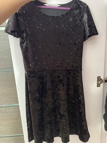Sukienka welurowa h&m 134/140
