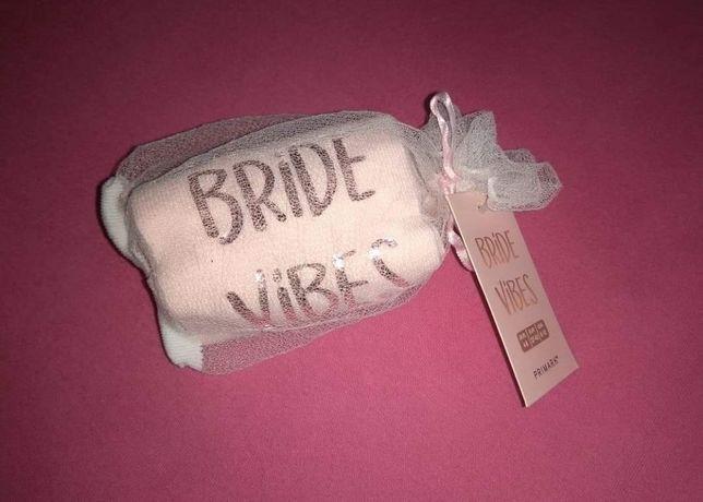 Bride vibes panna młoda nowe skarpetki rozmiar 37-42 wieczór panieński