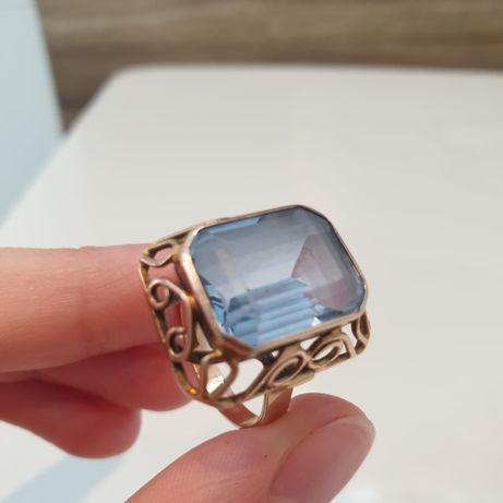Złoty pierścionek z dużym oczkiem 585 7,98g REZERWACJA