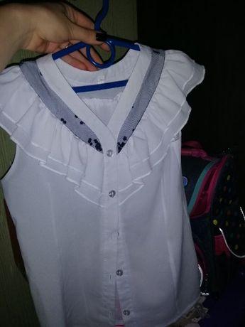 Кофта Блуза Туника для школы.На девочку свитер. возраст 7-9 лет