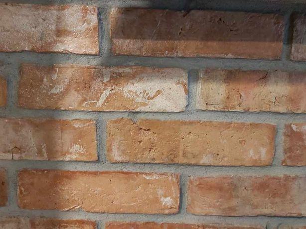 Płytki z cegły stara cegła lico retro loft