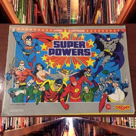 Caderneta de cromos Super Powers 1988