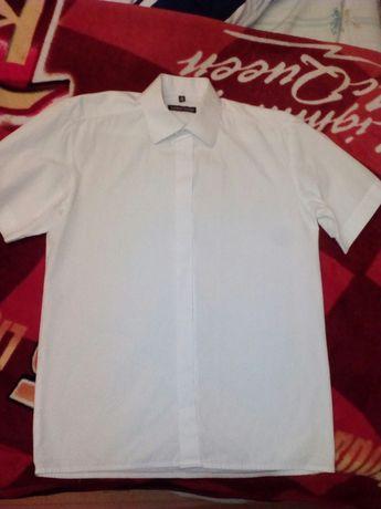 Biała koszula roz 35/158 krótki rękaw