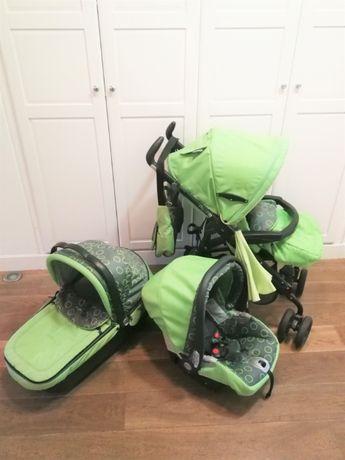 Wózek 3w1: spacerówka gondola fotelik. Dobry stan. Peg Perego PLIKO P3