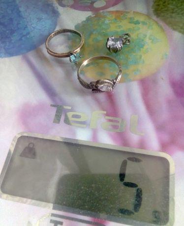 Серебро, торг, кольца и кулончик