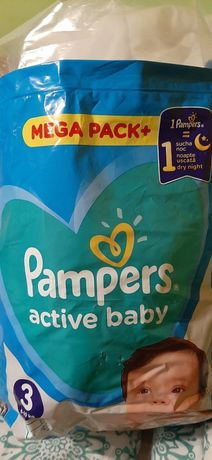 Prawie pełna paczka pampers active baby 3