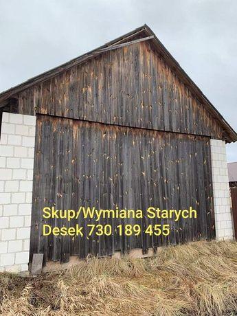Stare deski stodoła darmowa rozbiórka wymiana na nowe blachę