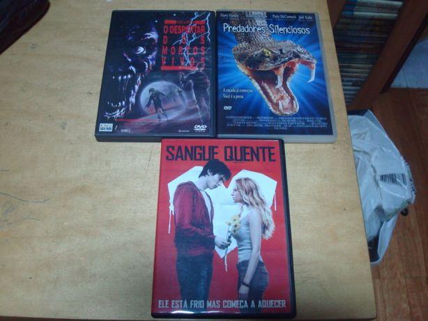 lote 16 dvds originais de terror alien,massacre no texas, etc