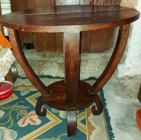 Mesa centro redonda madeira