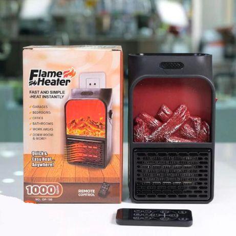 Портативный обогреватель с имитацией камина Flame Heater 1000 ВТ