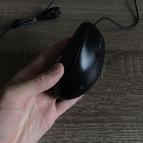 Мышь б/у /мышка б/у Logitech B100 USB Black