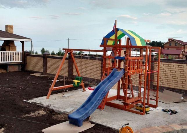 Детская деревянная игровая площадка - аляска