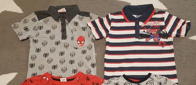 Zestaw 2szt bluzeczka krótki rękaw polo 110cm Spiderman