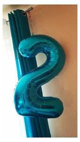 Balon foliowy niebieski - 2