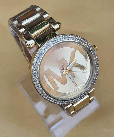 Zegarek MK Michael Kors klasyczna elegancja Gold cyrkonie